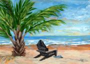 Flip-flops Paintings - Paradise  by Darice Machel McGuire