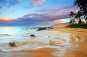 Tropical Beach Prints - PAradise Dawn Print by Mike  Dawson