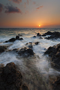 Sunset Seascape Photo Prints - Paradise Flow Print by Mike  Dawson