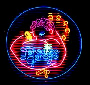 Neon Glass Art - Paradise Garage by Pacifico Palumbo