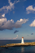 Red Hog Prints - Paradise Island Lighthouse Print by Stephanie McDowell