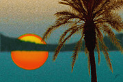 Beach Sunsets Originals - Paradise Sun by Ben and Raisa Gertsberg