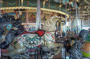Rose Cottage Gallery Posters - Paragon Carousel Nantasket Beach Poster by Barbara McDevitt