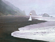 White Dress Digital Art - Parasol Beach by Robert Foster