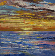 Lhuile Posters - Parfait Sunset Poster by Michael Creese