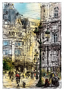 Paris Paintings - Paris 1 in colour by Tatiana Ivchenkova