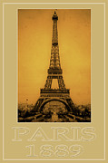 Vintage Eiffel Tower Metal Prints - Paris 1889  Metal Print by Andrew Fare