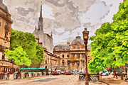 Paris Digital Art Framed Prints - Paris 2 Framed Print by Yury Malkov