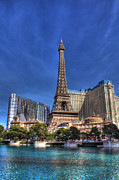 Paris Las Vegas Posters - Paris across from Bellagio  Poster by Andrew Pacheco
