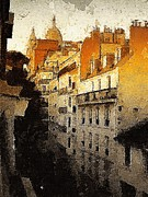 Dome Paintings - Paris Apartment view of Montmartre by Marshall Thomas