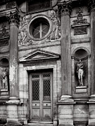 Black And White Paris Posters - Paris Architecture - Louvre Poster by Philip Sweeck