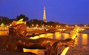 Paris Metal Prints - Paris at night Metal Print by Dan Breckwoldt