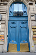 French Door Art - Paris Blue Doors - Paris Romantic Blue Doors - Paris Dreamy Blue Door Art - Parisian Blue Doors Art  by Kathy Fornal