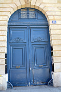 French Doors Metal Prints - Paris Blue Doors - Paris Romantic Blue Doors - Paris Dreamy Blue Doors - Parisian Blue Doors Metal Print by Kathy Fornal