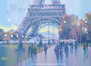 Alex Hook Krioutchkov Art - Paris blues II by Alex Hook Krioutchkov