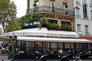 Outdoor Cafes Metal Prints - Paris Cafe De Flore - Paris Fine Art Cafe De Flore - Paris Famous Cafes and Street Cafe Scenes Metal Print by Kathy Fornal