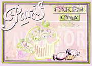 Juvenile Licensing Mixed Media Posters - Paris Candy Shop Poster by AdSpice Studios