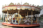 Baby Room Framed Prints - Paris Carousels Merry Go Round Horses - Paris Carousel Rides Fine Art Photography Framed Print by Kathy Fornal