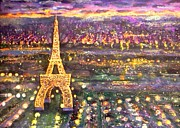 France Mixed Media Originals - Paris City of Lights by Rita Brown