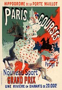 Belle Epoque Framed Prints - Paris Courses Framed Print by Sanely Great