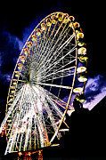 French Digital Art Originals - Paris Ferris Wheel by Sandy MacNeil