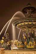 Art Of Building Framed Prints - Paris Fountain Framed Print by Brian Jannsen
