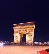 Paris France - Arc De Triomphe - 01131 Print by DC Photographer