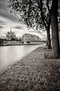 Cobblestone Prints - Paris France Print by Brian Jannsen