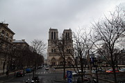 Facades Photo Posters - Paris France - Notre Dame de Paris - 011311 Poster by DC Photographer