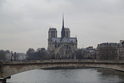 Lady Photo Prints - Paris France - Notre Dame de Paris - 011313 Print by DC Photographer