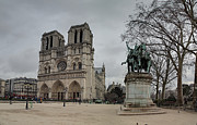 Paris France - Notre Dame De Paris - 011314 Print by DC Photographer