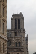 Facades Posters - Paris France - Notre Dame de Paris - 01132 Poster by DC Photographer