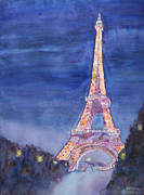 Rain Painting Framed Prints - Paris Giant Framed Print by Jenny Armitage