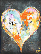 Man Cave Licensing Mixed Media Posters - Paris Heart Poster by Anahi Decanio