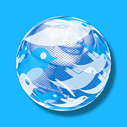 Orb Originals - Paris Hilton Twitter Orb by Tony Rubino