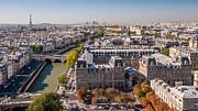 Paris In Autumn Print by Pierre Leclerc Photography