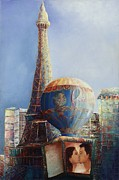 Most Popular Paintings - Paris in Las Vegas by Lisa Kruse