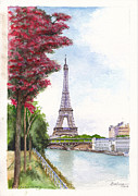 Bir Framed Prints - Paris in Spring - Ile aux Cygnes Framed Print by Dai Wynn
