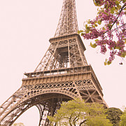 La Tour Eiffel Framed Prints - Paris in the Springtime Framed Print by Heidi Hermes