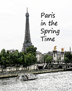 Paris Digital Art Posters - Paris in the Spting Time Poster by Linda Phelps