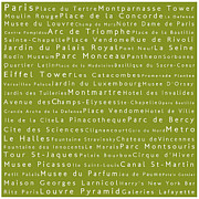 Elysees Prints - Paris in Words Olive Print by Sabine Jacobs