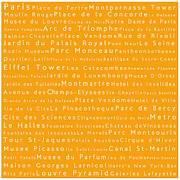 Elysees Prints - Paris in Words Print by Sabine Jacobs