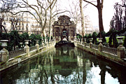 Sculptures Posters - Paris Jardin du Luxembourg Gardens - Medici Fountain Sculpture Monuments Park  Poster by Kathy Fornal