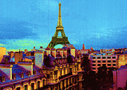 Eiffel Tower Metal Prints - Paris Metal Print by Jeanette Korab