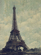 Border Pyrography Metal Prints - Paris Metal Print by Jelena Jovanovic