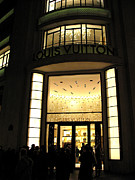 Night Scene Posters - Paris Louis Vuitton Boutique Store Front Poster by Kathy Fornal