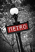 French Photo Framed Prints - Paris metro Framed Print by Elena Elisseeva