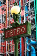 Paris Metro Print by Inge Johnsson