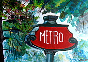 M Bleichner - Paris Metro Sign