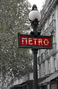 Paris Prints - Paris Metro Sign Print by Matthew Bamberg